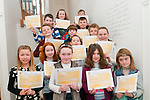 Creative Writing : Young writers who completed a creative writing course pictured after receiving their certificates at the Seanchai Centre, Listowel on Saturday morning last.