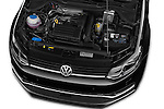Car Stock 2014 Volkswagen POLO SPORTLINE 5 Door Hatchback 2WD Engine high angle detail view