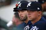 Reno Aces watch the action at Greater Nevada Field, in Reno, Nev., on Wednesday, Aug. 10, 2016.  <br /> Photo by Cathleen Allison