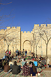 Israel, Jerusalem Old City, Kabbalat Shabbat, Welcoming the Sabbath by Jaffa Gate