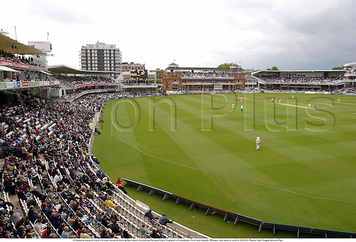 A General view of Lord's Cricket Ground during the match including the pavillion, England v Zimbabwe, First test match, NPower test series, Lord's, 030523. Photo: Neil Tingle/Action Plus...2003.Cricket .venue venues grounds pitch pitches