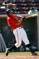 Kyle Blanks of the Lake Elsinore Storm during a California League baseball game on April 29, 2007 at The Diamond in Lake Elsinore, California. (Larry Goren/Four Seam Images)