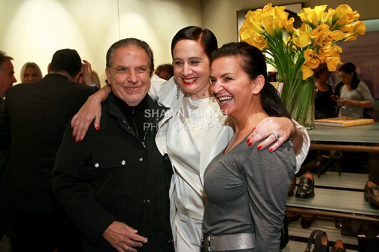 """Guest, Rebecca Moses and Veronique Gabai-Pinsky at the Rebecca Moses """"A Life of Style"""" book signing at Fratelli Rossetti Boutique, November 11, 2010."""