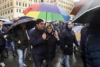 Roma, 20 Gennaio 2014<br /> Manifestazione degli autoferrotramvieri contro le privatizzazioni del trasporto pubblico, per nuove assunzioni e per contratti migliori.