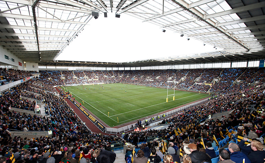 Photo: Richard Lane/Richard Lane Photography. Wasps v London Irish. Aviva Premiership. 21/12/2014. Wasps' first game at the Ricoh Arena as their new home. Ricoh Arena.
