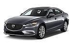 2019 Mazda Mazda6 Grand Touring Reserve 4 Door Sedan angular front stock photos of front three quarter view