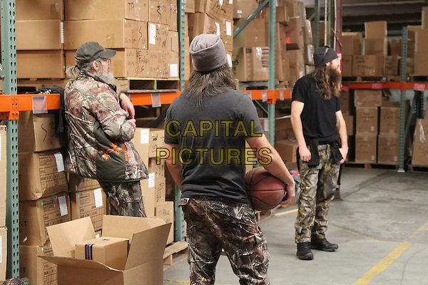 Si Robertson, Jep Roberston and Jase Robertson <br /> in Duck Dynasty (Season 6)<br /> *Filmstill - Editorial Use Only*<br /> CAP/FB<br /> Image supplied by Capital Pictures