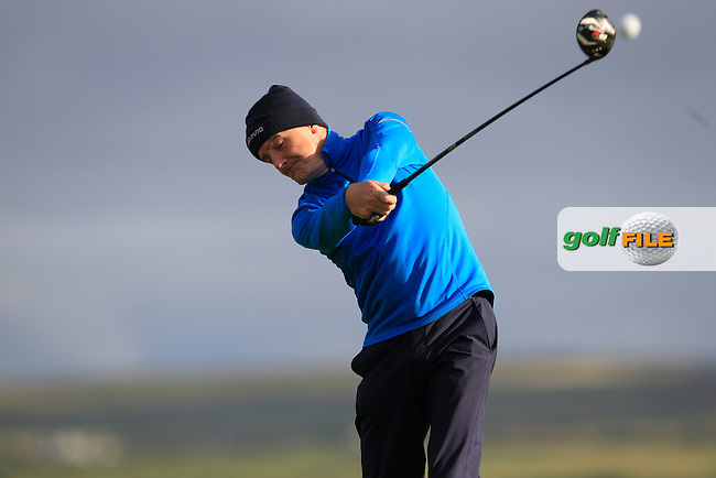 Bob Loftus (Lahinch) on the 2nd tee during Round 2 of the South of Ireland Amateur Open Championship at LaHinch Golf Club on Thursday 23rd July 2015.<br /> Picture:  Golffile | Thos Caffrey