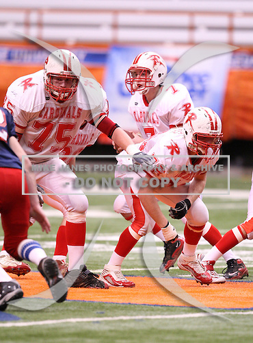 Randolph Cardinals varsity football against the Moriah Vikings during the NYSPHSAA Class-D State Championship game at the Carrier Dome on November 28, 2009 in Syracuse, New York.  Randolph defeated Moriah 40-0.  (Copyright Mike Janes Photography)