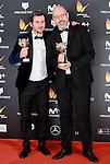 Raul Arevalo and David Pulido win the award at Feroz Awards 2017 in Madrid, Spain. January 23, 2017. (ALTERPHOTOS/BorjaB.Hojas)
