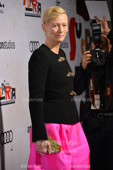 "LOS ANGELES, CA. October 24, 2018: Tilda Swinton at the Los Angeles premiere for ""Suspiria"" at the Cinerama Dome.<br /> Picture: Paul Smith/Featureflash"