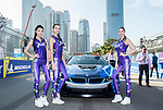 Grid girls during the FIA Formula E Hong Kong E-Prix Round 1 at the Central Harbourfront Circuit on 02 December 2017 in Hong Kong, Hong Kong. Photo by Marcio Rodrigo Machado / Power Sport Images