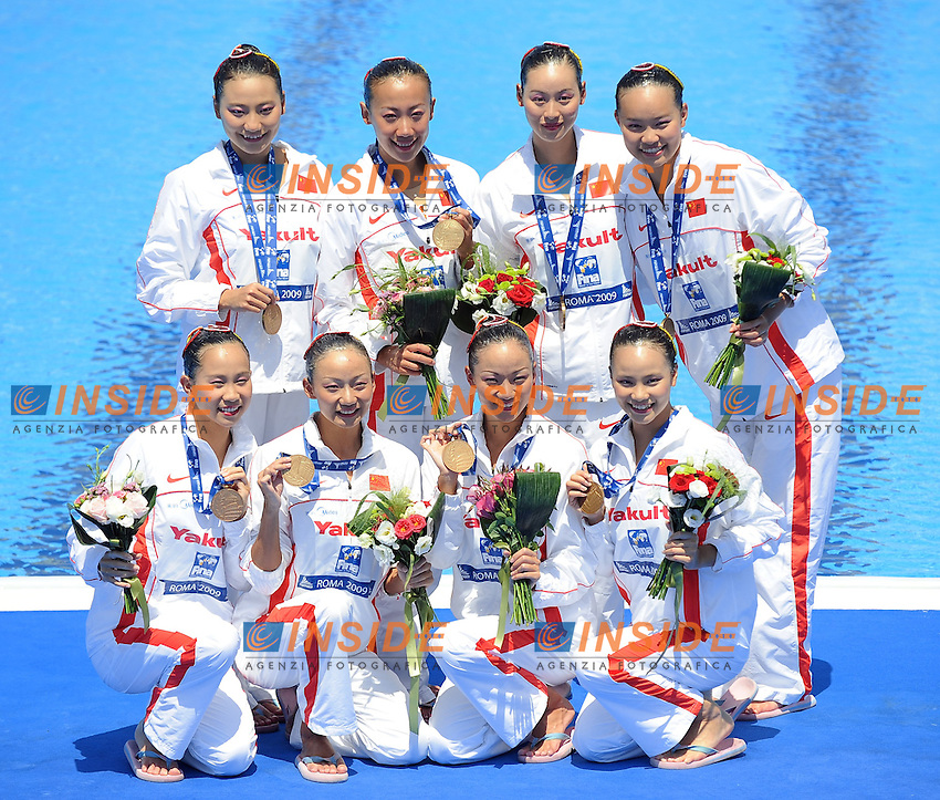 Roma 25th July 2009 - 13th Fina World Championships From 17th to 2nd August 2009....Synchronized swimming - Team free......photo: Roma2009.com/InsideFoto/SeaSee.com