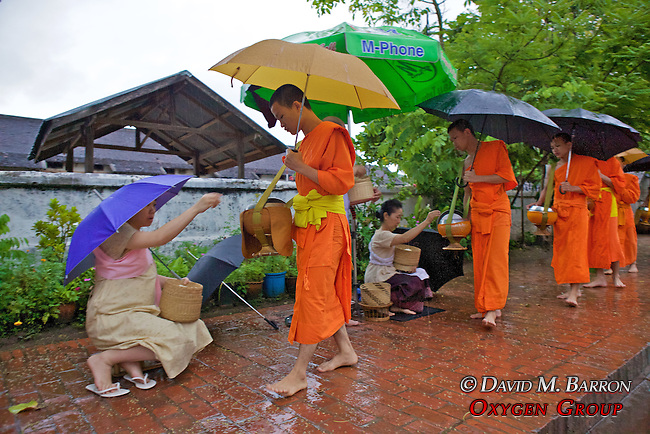Monks Receiving Food