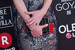 Handbag Emily Mortimer attends red carpet of Goya Cinema Awards 2018 at Madrid Marriott Auditorium in Madrid , Spain. February 03, 2018. (ALTERPHOTOS/Borja B.Hojas)
