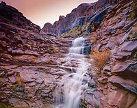 Thunderstorm waterfall, Granstaff Canyon, Utah Near Moab ,Colorado River