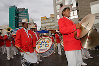 15.02.2010 La Paz (Bolivia)<br /> <br /> Fanfare playing during the carnival.<br /> <br /> Fanfare en train de jouer pendant le carnaval.