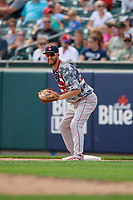 Pawtucket Red Sox first baseman Jantzen Witte (35) during an International League game against the Buffalo Bisons on August 25, 2019 at Sahlen Field in Buffalo, New York.  Buffalo defeated Pawtucket 5-4 in 11 innings.  (Mike Janes/Four Seam Images)