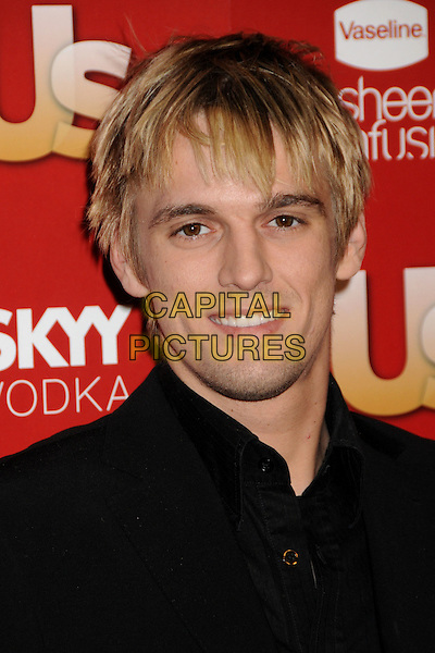 AARON CARTER.US Weekly's Hot Hollywood Party 2009 held at Voyeur, West Hollywood, California, USA..November 18th, 2009.headshot portrait black.CAP/ADM/BP.©Byron Purvis/AdMedia/Capital Pictures.