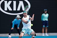 28th January 2020; Melbourne Park, Melbourne, Victoria, Australia; Australian Open Tennis, Day 9; Tennys Sandgren of USA during his match against Roger Federer of Switzerland