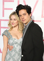 7 March 2019 - Los Angeles, California - Lili Reinhart, Cole Sprouse. The Premiere Of Lionsgate's &quot;Five Feet Apart&quot; held at Fox Bruin Theatre. <br /> CAP/ADM/FS<br /> &copy;FS/ADM/Capital Pictures
