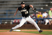 Starting pitcher Phil Negus #22 of the Wake Forest Demon Deacons in action at Wake Forest Baseball Park April 18, 2009 in Winston-Salem, NC. (Photo by Brian Westerholt / Four Seam Images)