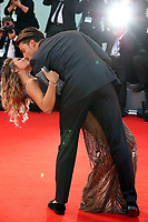 Eleonora Brunacci and Mariano Di Vaio walk the red carpet ahead of the 'Racer And The Jailbird (Le Fidele)' screening during the 74th Venice Film Festival at Sala Grande on September 8, 2017 in Venice, Italy.<br /> CAP/GOL<br /> &copy;GOL/Capital Pictures