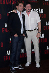 04.05.2012. Presentation at the Hotel Me Madrid in the film ´Alacrán Enamorado´ directed by Santiago A. Zannou produced by Alvaro Longoria and with actors Carlos Bardem, Javier Bardem, Miguel Angel Silvestre, Alex Gonzalez and Judith Diakhate. In the image Javier Bardem and Carlos Bardem (Alterphotos/Marta Gonzalez)