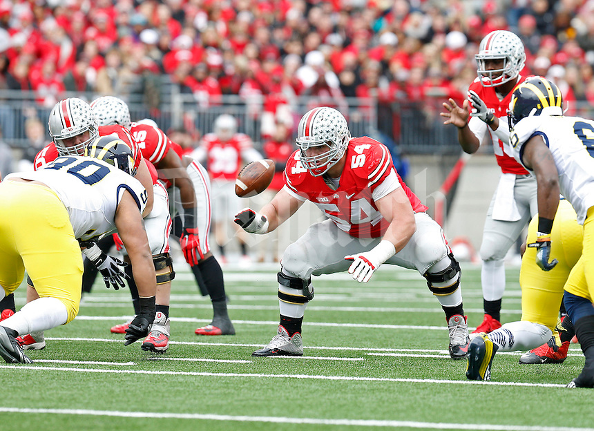 Ohio State Buckeyes offensive lineman Billy Price (54) against Michigan Wolverines at Ohio Stadium in Columbus, Ohio on November 29, 2014.  (Dispatch photo by Kyle Robertson)