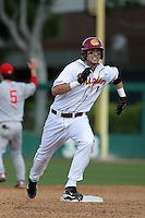 March 7 2010: Cade Kreuter of USC during game against University of New Mexico at Dedeaux Field in Los Angeles,CA.  Photo by Larry Goren/Four Seam Images