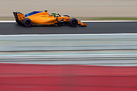 Vandoorme, Formula 1 pilot of the Mclaren team, shooting during the second day of the test days of Formula 1, held at the Catalunya circuit (Montmelo) Catalonia February 27th  of 2018