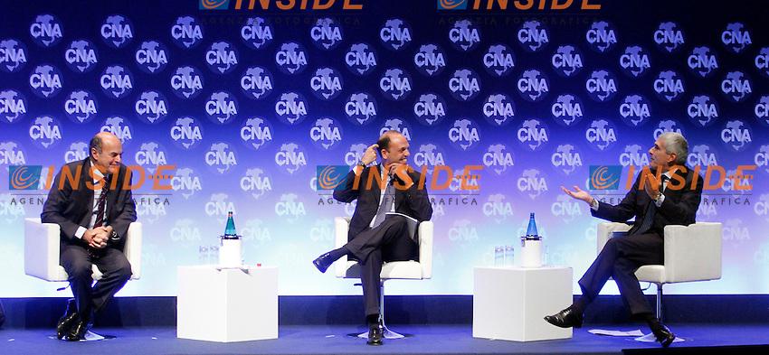 Pierluigi Bersani, Angelino Alfano, Pier Ferdinando Casini.Roma 15/11/2012 Assemblea della CNA, Confederazione Nazionale dell'Artigianato e della Piccola e Media Impresa..Photo Samantha Zucchi Insidefoto