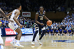 DURHAM, NC - JANUARY 29: Notre Dame's Temple TJ Gibbs. The Duke University Blue Devils hosted the University of Notre Dame Fighting Irish on January 29, 2018 at Cameron Indoor Stadium in Durham, NC in a Division I men's college basketball game. Duke won the game 88-66.