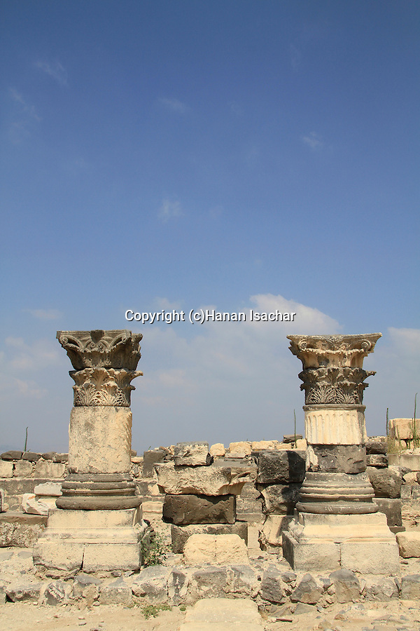 Golan Heights, the Roman Basilica at Hippos on Mount Susita, built at the end of the 1st century AD