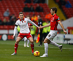 Paul Coutts of Sheffield Utd and Sam Ricketts of Coventry City - English League One - Sheffield Utd vs Coventry City - Bramall Lane Stadium - Sheffield - England - 13th December 2015 - Pic Simon Bellis/Sportimage-