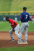 Delino DeShields, manager - Surprise Saguaros - 2014 Arizona Fall League (Bill Mitchell)