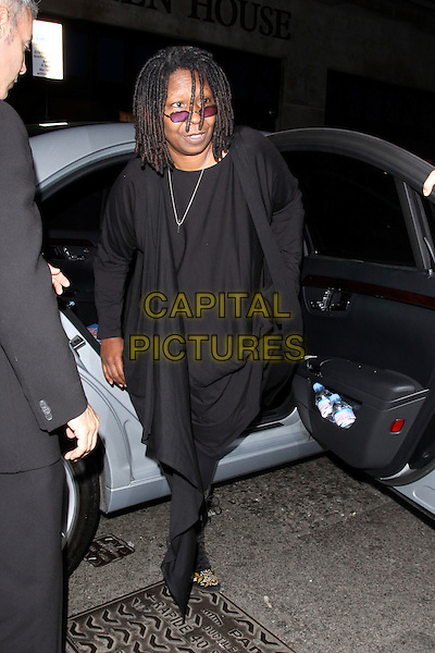 """WHOOPI GOLDBERG.""""Sister Act: The Musical"""" afterparty at Floridita, London, England..June 2nd, 2009.full length black dress wrap car sunglasses shades .CAP/AH.©Adam Houghton/Capital Pictures."""