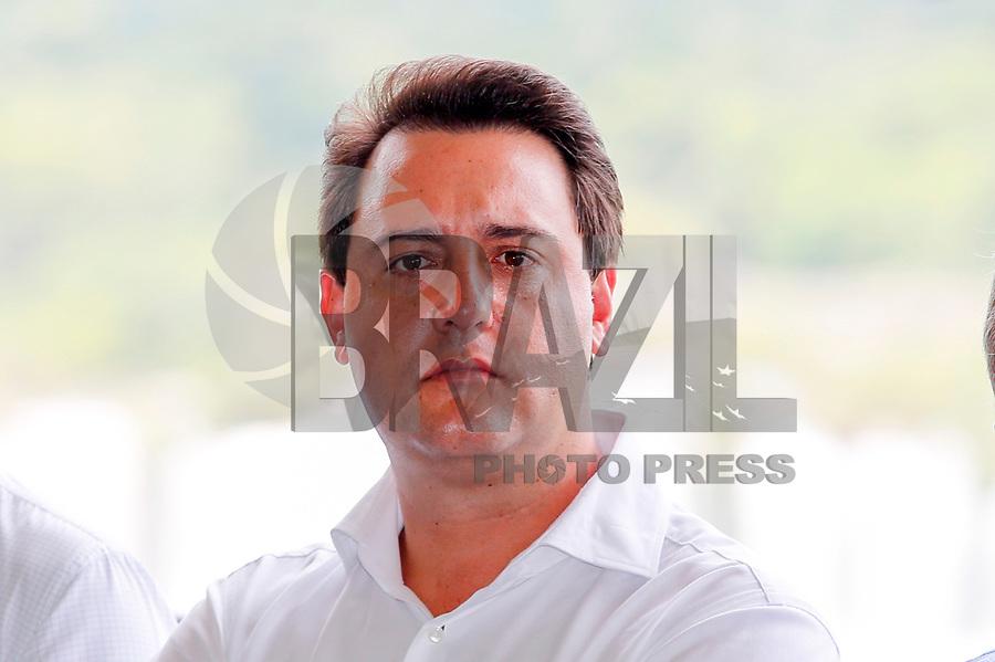 FOZ DO IGUAÇU, PR, 10.01.2019 –MEIO -AMBIENTE –  Ratinho Junior governador do Parana, durante comemoração dos 80 anos do Parque Nacional do Iguaçu na manhã desta quinta-feira (10) em Foz do Iguaçu (PR). (Foto: Paulo Lisboa/Brazil Photo Press)