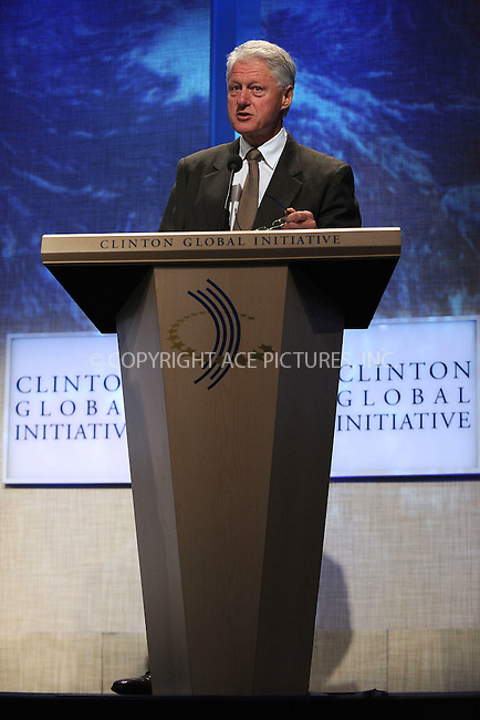 WWW.ACEPIXS.COM . . . . . ....September 23 2009, New York City....Bill Clinton at the Clinton Global Initiative on September 23 2009 in New York City....Please byline: KRISTIN CALLAHAN - ACEPIXS.COM.. . . . . . ..Ace Pictures, Inc:  ..tel: (212) 243 8787 or (646) 769 0430..e-mail: info@acepixs.com..web: http://www.acepixs.com