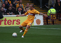 Nicky Law in the Motherwell v Panathinaikos UEFA Champions League 3rd Qualifying Round 1st Leg match at Fir Park, Motherwell on 31.7.12.