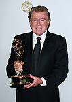Regis Philbin poses with his lifetime achievement award backstage at the 35th Annual Daytime Emmy Awards held at the Kodak Theatre in Los Angeles on June 20, 2008.