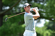 Bethesda, MD - June 26, 2016: Webb Simpson (USA) tees off on the second hole during Final Round of play at the Quicken Loans National Tournament at the Congressional Country Club in Bethesda, MD, June 26, 2016. (Photo by Philip Peters/Media Images International)
