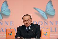 Silvio Berlusconi<br /> Roma 16-12-2015 Tempio di Adriano. Presentazione del libro 'Donne d'Italia'.<br /> Presentation of the book 'Women of Italy'.<br /> Photo Samantha Zucchi Insidefoto