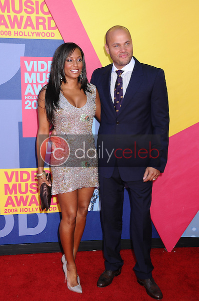 Melanie Brown and Stephen Belafonte<br />