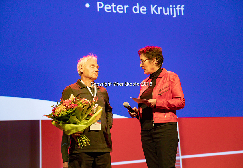 Nieuwegein,  Netherlands, 24 November 2018, KNLTB Year congress KNLTB, Peter de Kruijff<br /> Photo: Tennisimages.com/Henk Koster