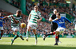 31.03.2019 Celtic v Rangers: Andy Halliday blocked