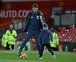 Michael Carrick of Manchester United plays football with Kai Rooney during the Premier League match at the Old Trafford Stadium, Manchester. Picture date: November 27th, 2016. Pic Simon Bellis/Sportimage