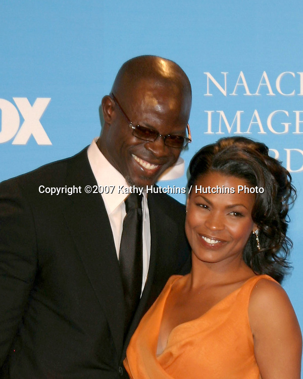 Djimon Hounsou & Nia Long.NAACP Image Awards.Shrine Auditorium.Los Angeles, CA.March 1, 2007.©2007 Kathy Hutchins / Hutchins Photo...