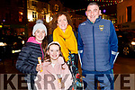 Lily and Erin Collins enjoying their ice cream on the shortest day of the year with Sharon Cregan and Paidi O'Shea from Tralee.