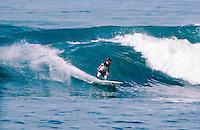 Tom Curren (USA) 3 times World Surfing Champion at the 1983 Rip Curl Pro at Bells Beach, Torquay, Victoria, Australia. Photo: joliphotos.com